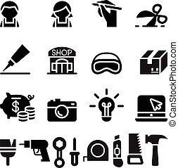 állhatatos, hajó, műhely, diy, kézműves, ikon