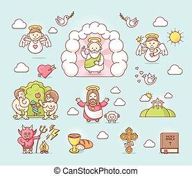 állhatatos, ikon, vallásos