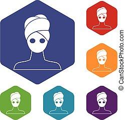 állhatatos, ikonok, maszk, arcápolás, agyag, ásványvízforrás