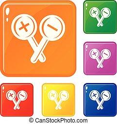 állhatatos, ikonok, szín, szemészet, vektor, teszt