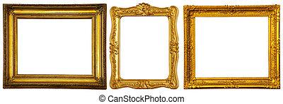 állhatatos, közül, kevés, arany, keret