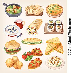 állhatatos, közül, színes, vegetáriánus, táplálék.