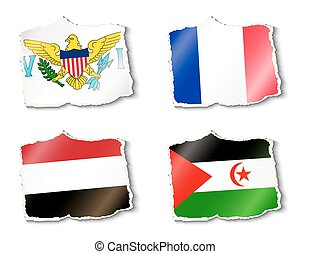 állhatatos, közül, zászlók