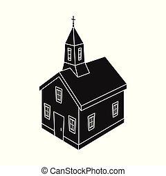 állhatatos, keresztény, stock., templom, vektor, tervezés, templomtorony, icon., ikon