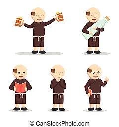 állhatatos, keresztény, szerzetes, emberek