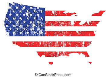 állhatatos, klasszikus művek, zászlók, usa