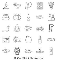 állhatatos, mód, kényelem, áttekintés, ikonok