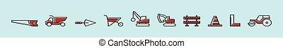 állhatatos, models., vektor, pusztítás, blue háttér, elszigetelt, sablon, ikon, ábra, különféle, karikatúra, tervezés