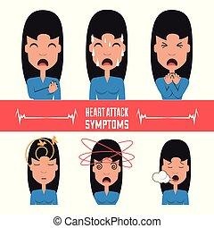 állhatatos, nő, szívroham, tünetek