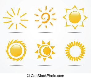 állhatatos, nap, vektor