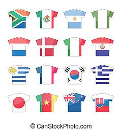 állhatatos, országok, ikonok, -, 1, 2, zászlók