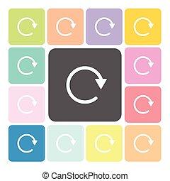 állhatatos, szín, felfrissít, vektor, ábra, ikon