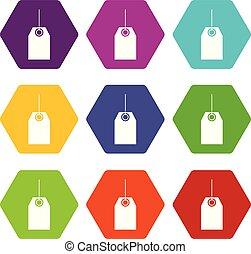állhatatos, szín, hexahedron, címke, fekete, ikon