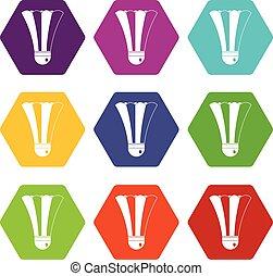 állhatatos, szín, hexahedron, fekete, tollaslabda, fehér, ikon