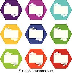 állhatatos, szín, hexahedron, fekete, transzparens, ikon