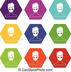 állhatatos, szín, hexahedron, maszk, arcápolás, agyag, ásványvízforrás, ikon
