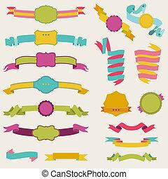 állhatatos, színes, szöveg, -, 3, vektor, rész, gyeplő, -e