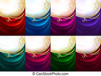 állhatatos, színezett, -, backdrops, ünnep, ruhaanyag