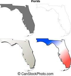 állhatatos, térkép, florida, áttekintés