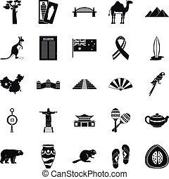 állhatatos, varázs, mód, együgyű icons