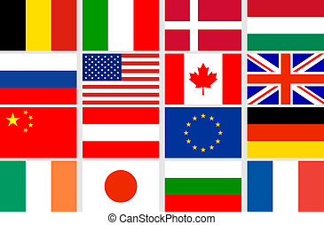 állhatatos, vektor, zászlók