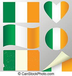 állhatatos, zászlók, írország