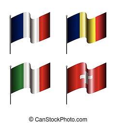 állhatatos, zászlók