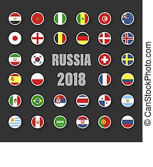 állhatatos, zászlók, országok