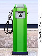 állomás, benzin, retro