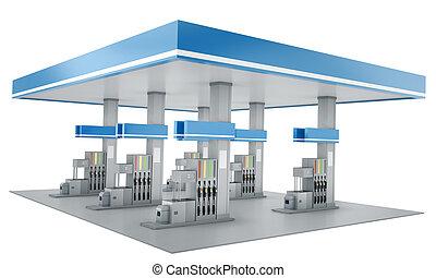 állomás, gáz