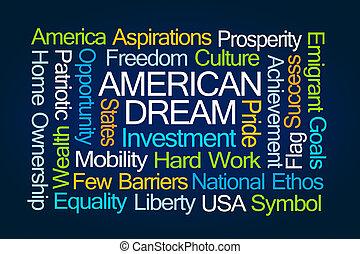 álmodik, amerikai, szó, felhő