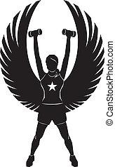 ángel, condición física