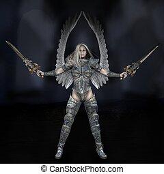 ángel, de la luz
