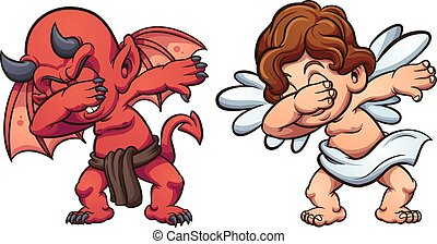 ángel, diablo