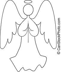 ángel, dibujo lineal