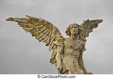 ángel, en, el, cielo