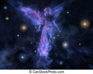ángel, formado, nebulosa