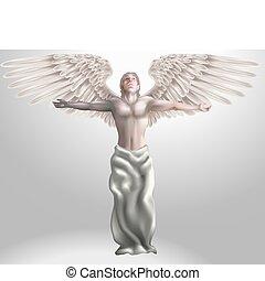 ángel, ilustración
