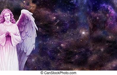 ángel, mirar, usted