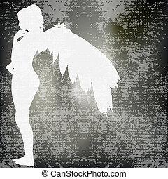 ángel, plano de fondo