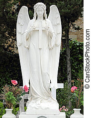 ángel, tenencia, cruz