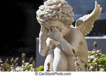 ángel, triste