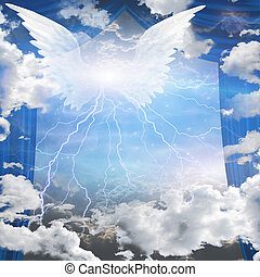 ángeles, alado