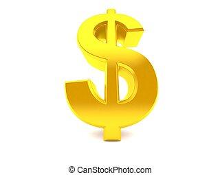ángulo, dólar, bajo