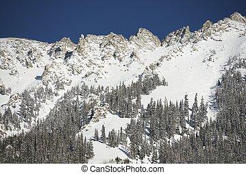 ápice montês, nevado