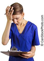 ápoló, csalódott