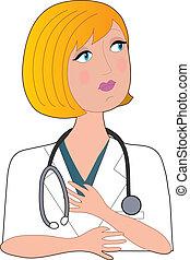 ápoló, szőke, bal