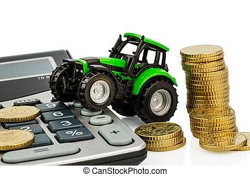 ár könyvelés, alatt, mezőgazdaság