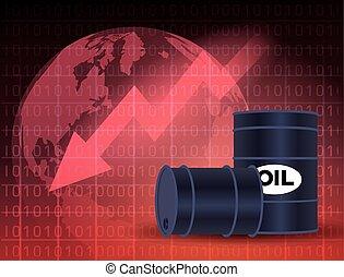 ár, piac, olaj, hengerek