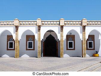 árabe, arquitetura, em, loubnan, mesquita, agadir, marrocos